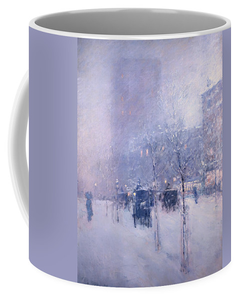 Painting Coffee Mug featuring the painting Late Afternoon - New York Winter by Mountain Dreams