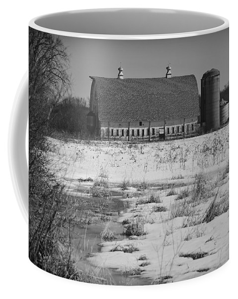 Wisconsin Farm Coffee Mug featuring the photograph Late Winter At A Wisconsin Farm by Thomas Young