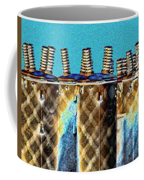 Abstract Coffee Mug featuring the photograph Lattice by Sylvia Thornton