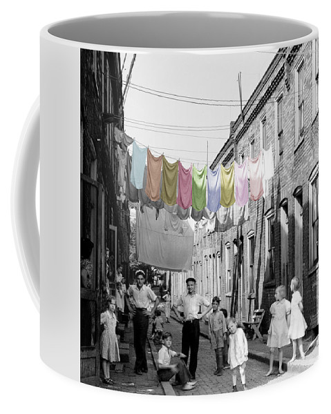Laundry Coffee Mug featuring the photograph Laundry Day 2 by Andrew Fare