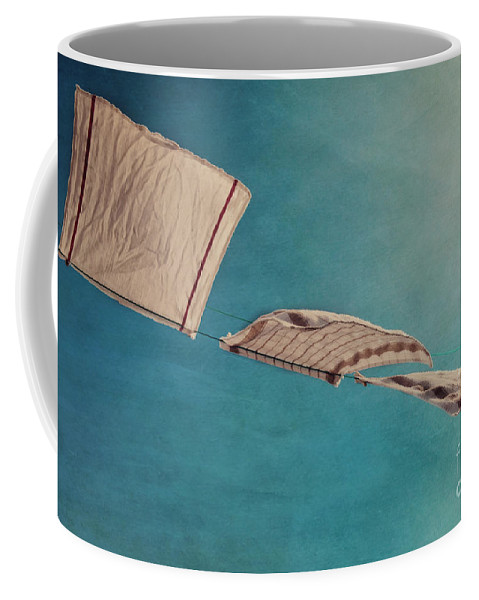 Breeze Coffee Mug featuring the photograph Laundry Day by Priska Wettstein