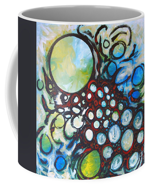 Dot Coffee Mug featuring the painting Lava Lamp Studio No.1 by Tonya Henderson