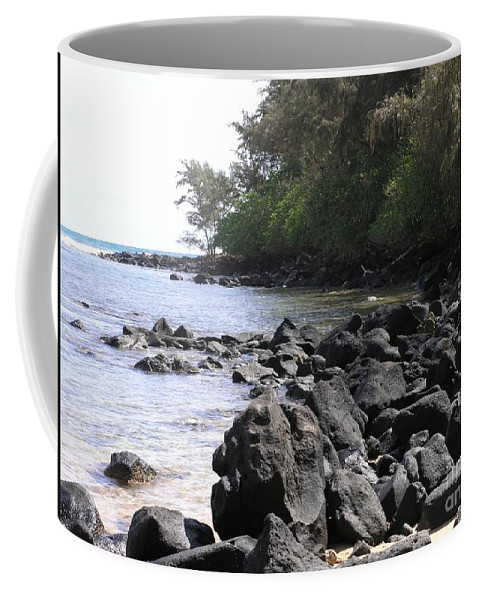 Ocean Coffee Mug featuring the photograph Lava Rocks by Mary Deal