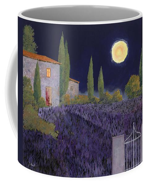 Tuscany Coffee Mug featuring the painting Lavanda Di Notte by Guido Borelli