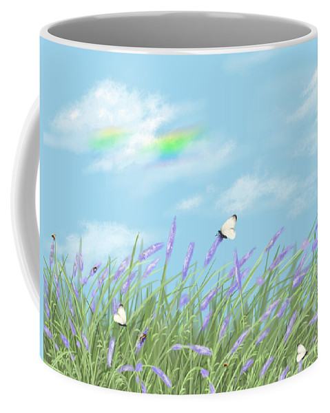 Nature Coffee Mug featuring the painting Lavander by Veronica Minozzi