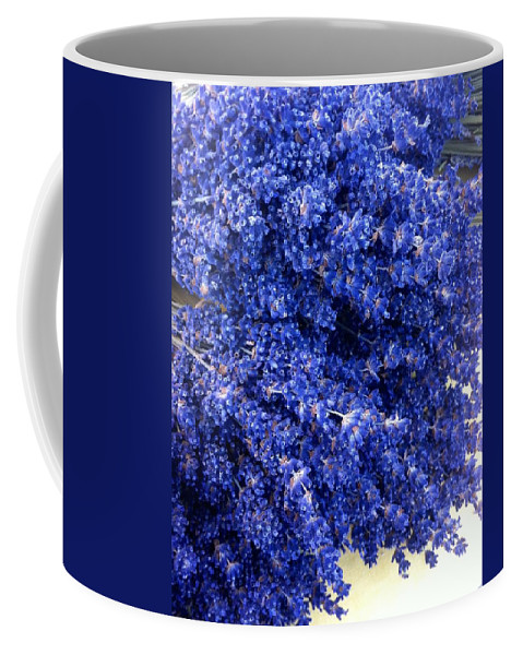 Lavender Bunch Flowers Coffee Mug featuring the photograph Lavender Bunch Flowers by Susan Garren