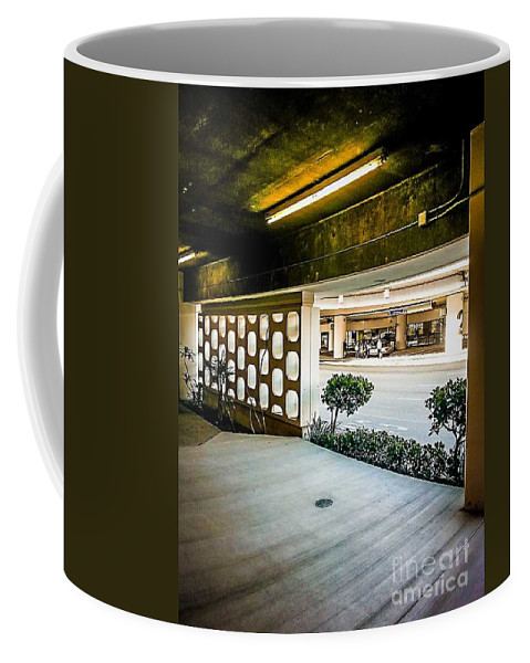 City Coffee Mug featuring the photograph Lax Parking-lot by Fei A