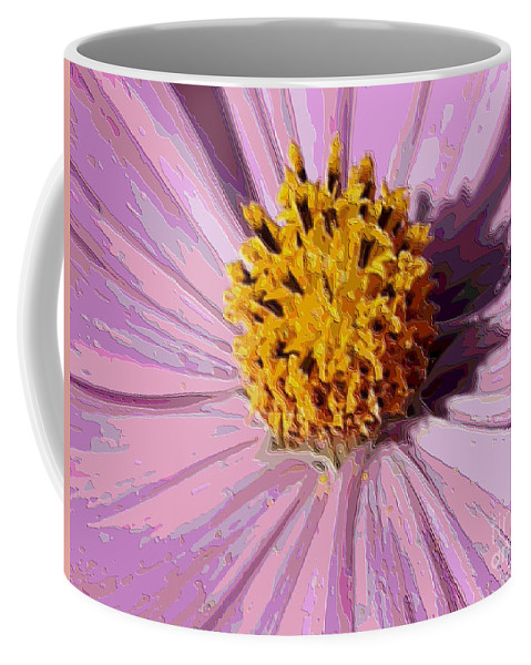 Pink Cosmos Coffee Mug featuring the photograph Layers Of A Cosmos Flower by Carol Groenen