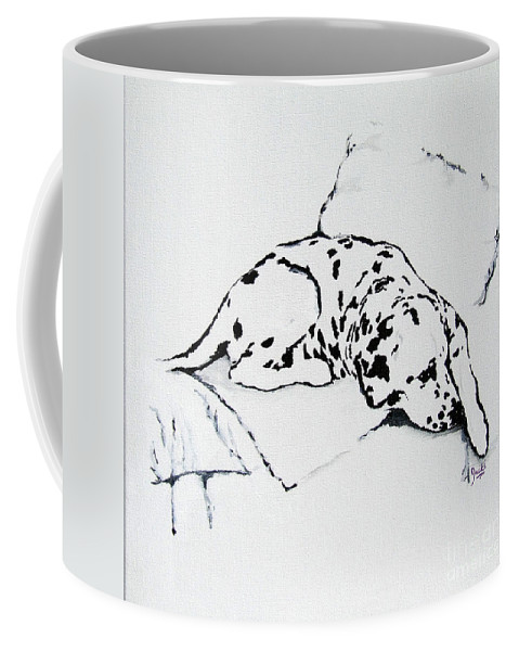 Dogs Coffee Mug featuring the painting Lazy Day by Jacki McGovern