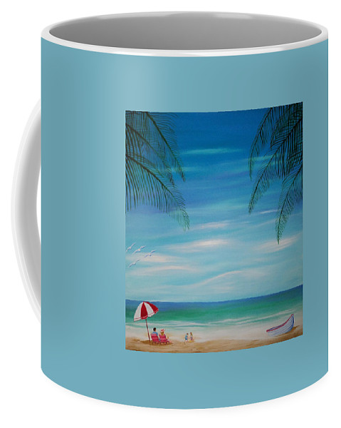 Beach Coffee Mug featuring the painting Lazy Day by Timothy Michaels Flores