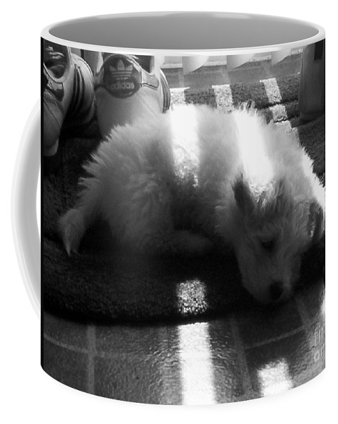 Puppy Coffee Mug featuring the photograph Lazy Days by Michael Krek