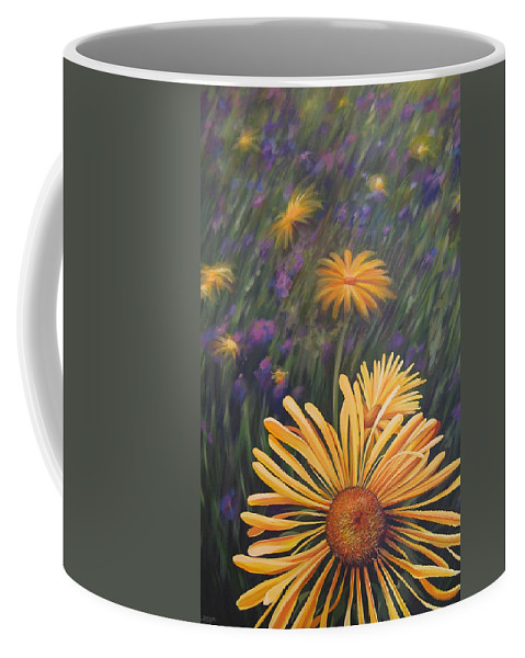 Wildflowers Coffee Mug featuring the painting Lazy Sunday by Hunter Jay