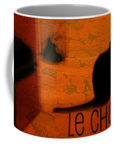 Animal Coffee Mug featuring the photograph Le Chat by Diana Angstadt