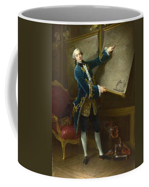 Francois-hubert Drouais Coffee Mug featuring the painting Le Comte De Vaudreuil by Francois-Hubert Drouais