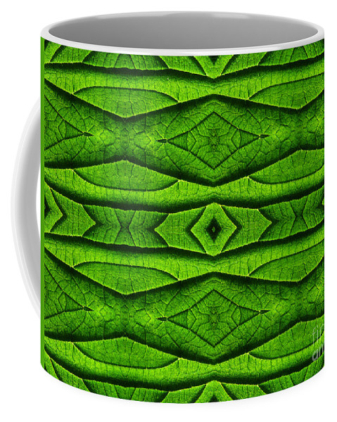 Abstract Coffee Mug featuring the photograph Leaf Structure Abstract by Barbara Moignard
