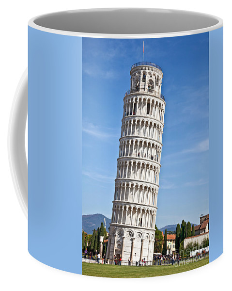 Leaning Tower Of Pisa Coffee Mug featuring the photograph Leaning Tower Of Pisa by Liz Leyden