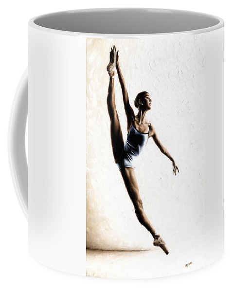 Dance Coffee Mug featuring the painting Leap of Faith by Richard Young