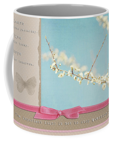 Scrapbook Coffee Mug featuring the photograph Learn Live And Hope by Lisa Knechtel