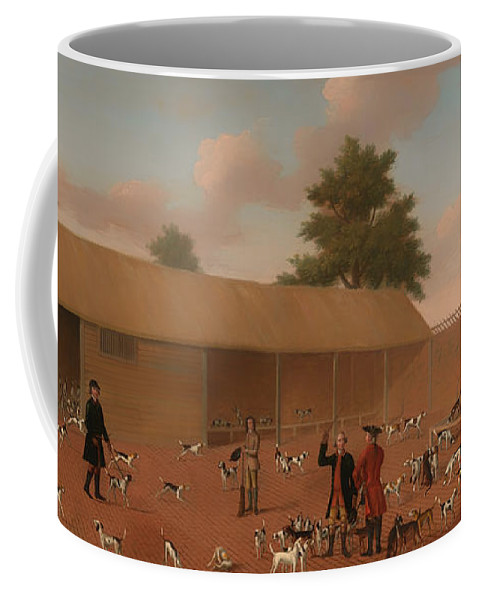 Painting Coffee Mug featuring the painting Learning About The Hounds by Mountain Dreams