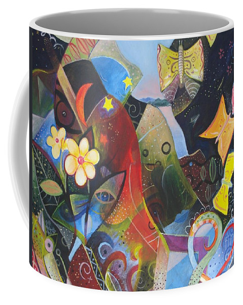 Butterflies Coffee Mug featuring the painting Learning To See by Helena Tiainen