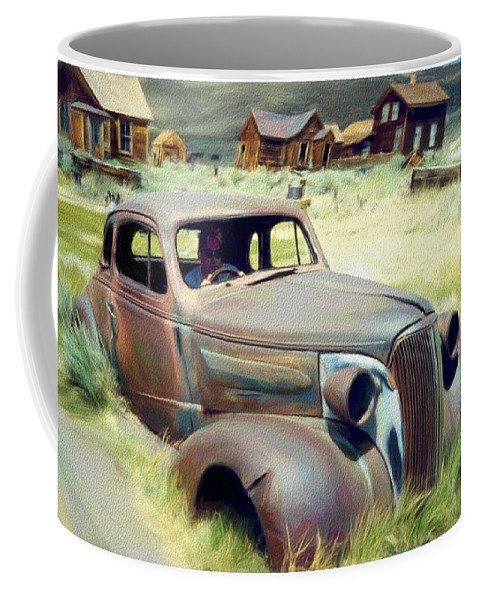 Photography Coffee Mug featuring the digital art Leaving Bodie by Snake Jagger