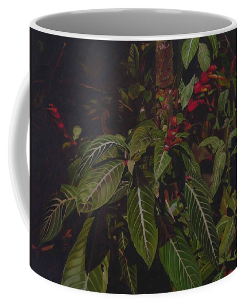 Leaves Coffee Mug featuring the painting Leaving Monroe by Thu Nguyen