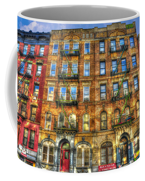 Led Zeppelin Coffee Mug featuring the photograph Led Zeppelin Physical Graffiti Building In Color by Randy Aveille