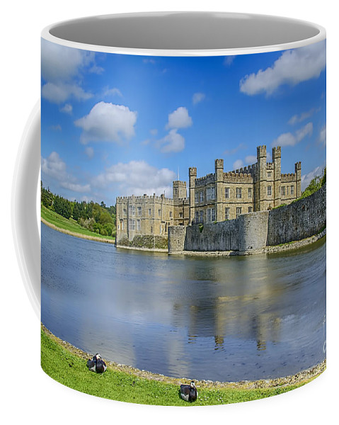 Leeds Castle Canvas Coffee Mug featuring the photograph Leeds Castle Moat 2 by Chris Thaxter