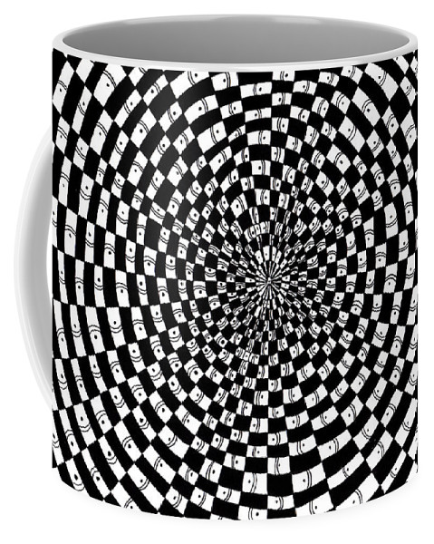 Abstract Coffee Mug featuring the drawing Legend Of An Abstract Artist by Crystal Hubbard