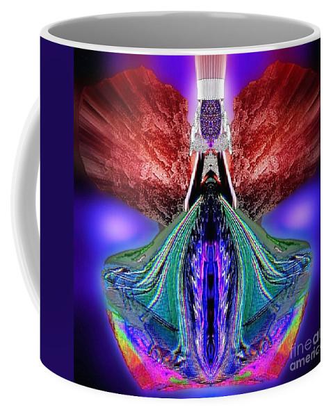 Angel Coffee Mug featuring the digital art Leilahel by Raymel Garcia
