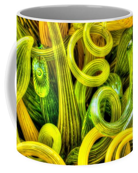 Glass Coffee Mug featuring the photograph Lemon And Lime by Debbi Granruth