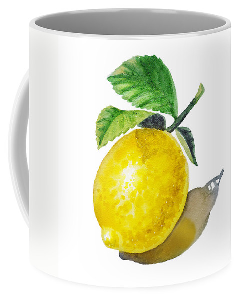 Lemon Coffee Mug featuring the painting Artz Vitamins The Lemon by Irina Sztukowski