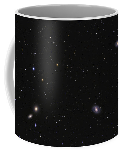 Horizontal Coffee Mug featuring the photograph Leo I Galaxy Cluster Showing Messier by Lorand Fenyes