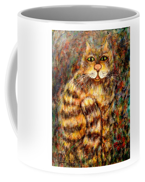Leo Coffee Mug featuring the painting LEO by Natalie Holland