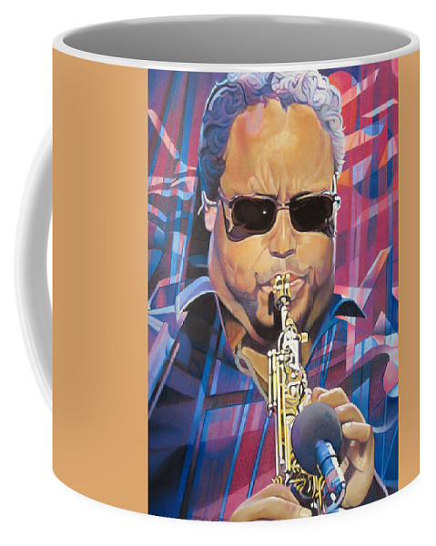 Leroi Moore Coffee Mug featuring the drawing Leroi Moore And 2007 Lights by Joshua Morton