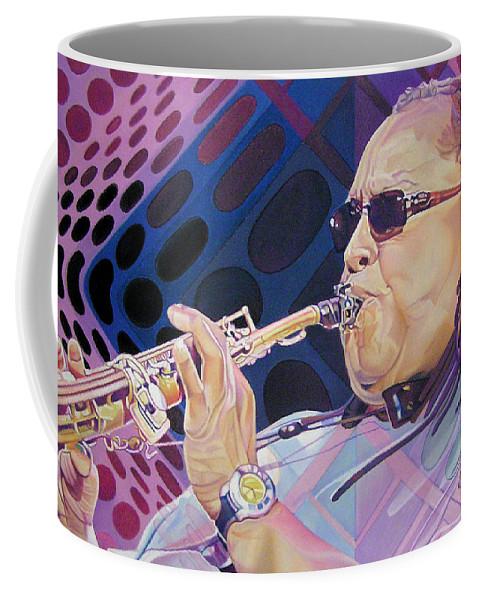 Leroi Moore Coffee Mug featuring the drawing Leroi Moore by Joshua Morton