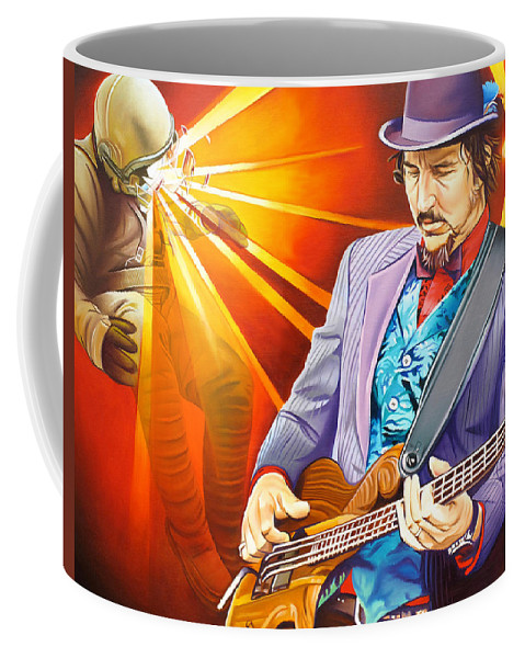 Les Claypool Coffee Mug featuring the painting Les Claypool's-sonic Boom by Joshua Morton