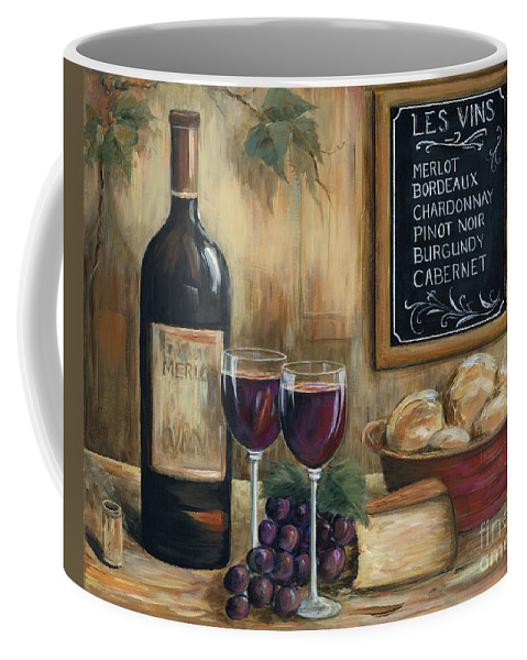 Wine Coffee Mug featuring the painting Les Vins by Marilyn Dunlap