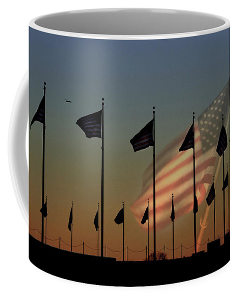 American Flag Coffee Mug featuring the photograph Let Freedom Ring by Lori Deiter