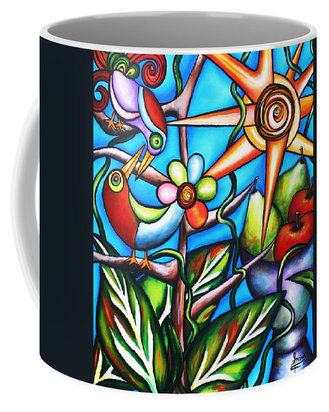 Birds Coffee Mug featuring the painting Let It Be by Annie Maxwell