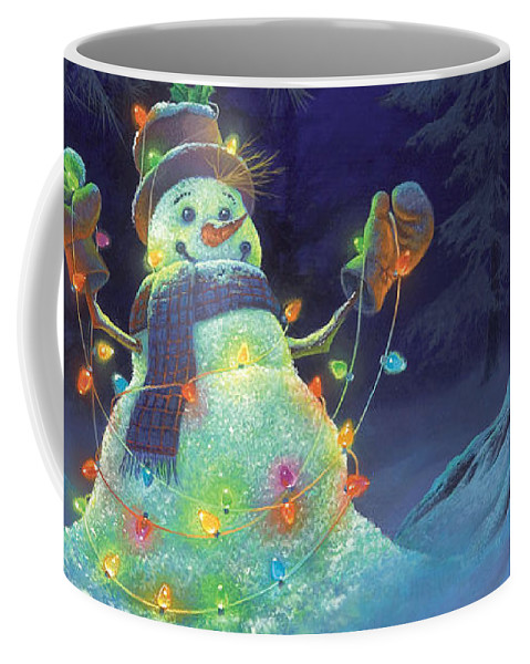Michael Humphries Coffee Mug featuring the painting Let it Glow by Michael Humphries