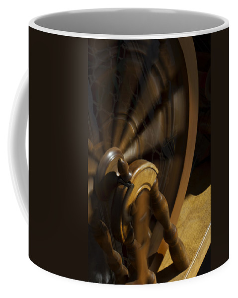Spinning Wheel Coffee Mug featuring the photograph Let The Spinning Wheel Spin by Guy Shultz
