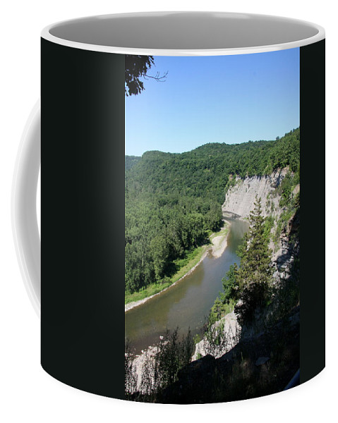 Letchworth State Park Coffee Mug featuring the photograph Letchworth State Park Genesee River I by Christiane Schulze Art And Photography