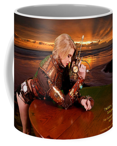Science Fiction Coffee Mug featuring the digital art Lethal Lisa by Robert Marquiss