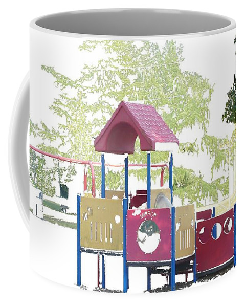 Playground Coffee Mug featuring the photograph Let's Play by Nicki Bennett