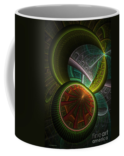 Digital Coffee Mug featuring the digital art Levels 113 by Deborah Benoit