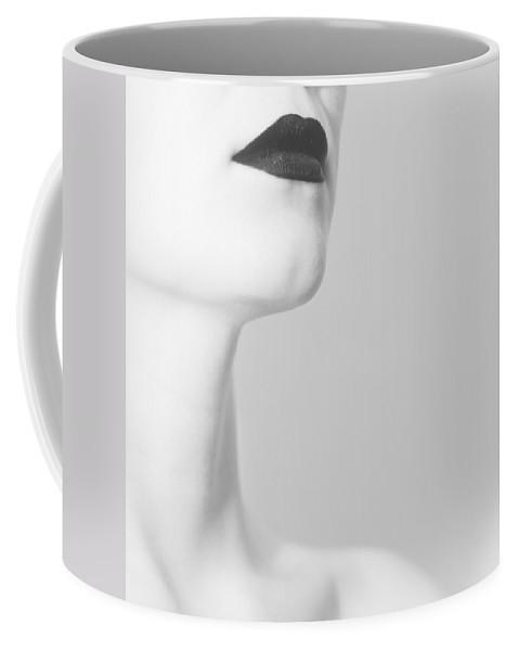 Black Coffee Mug featuring the photograph Levres Noires by Zapista Zapista