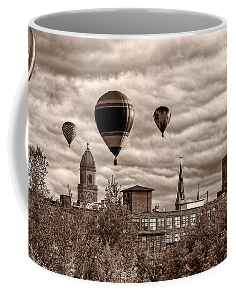 Hot Air Balloon Coffee Mug featuring the photograph Lewiston Maine Hot Air Balloons by Bob Orsillo