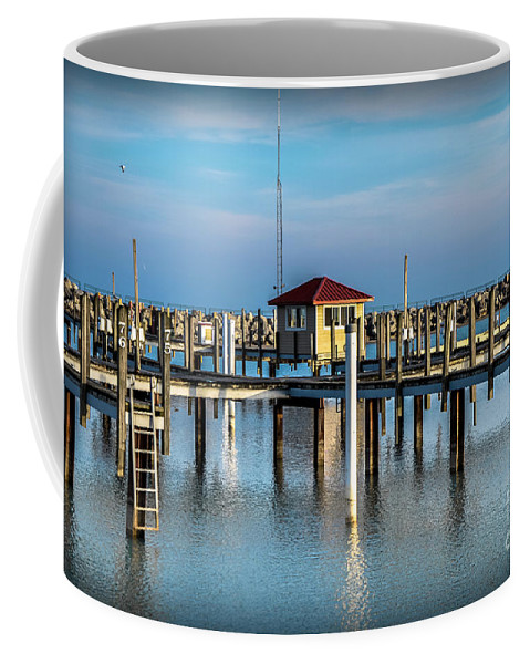 Lexington Coffee Mug featuring the photograph Lexington Harbor With No Boats by Ronald Grogan
