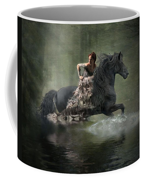Girl Fleeing On Horse Coffee Mug featuring the photograph Liberated by Fran J Scott